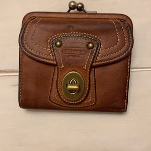 Coach Legacy French Framed Kiss lock wallet